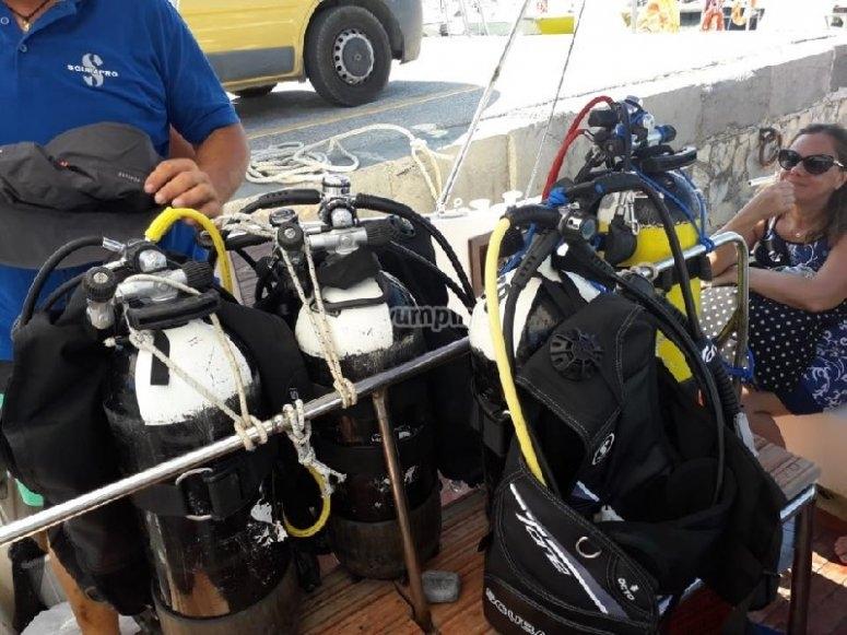 Preparation of the equipment