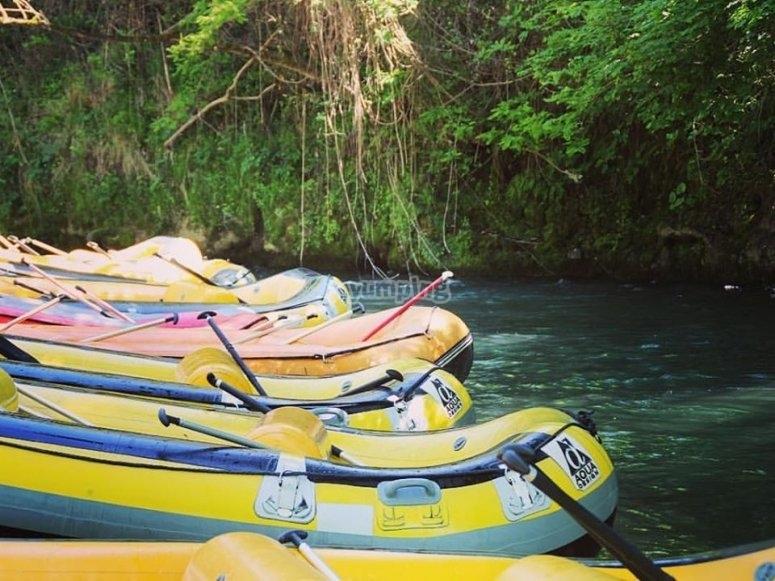 rubber boats ready