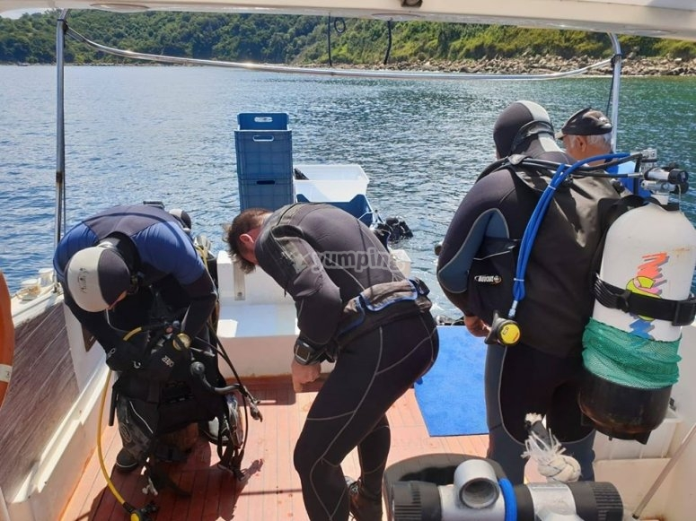 Preparation for the dive