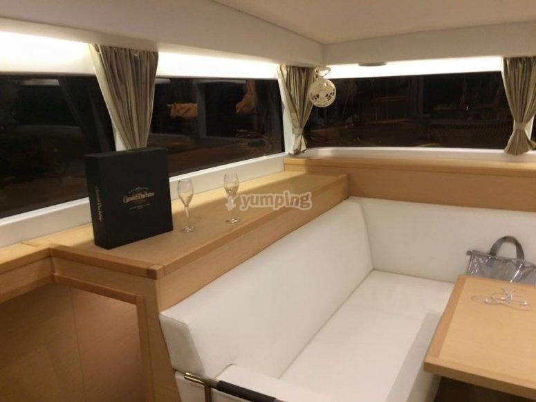 salotto della notra barca