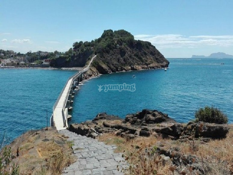 Bridge between the island of Procida and that of Varano