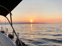 Alba in barca