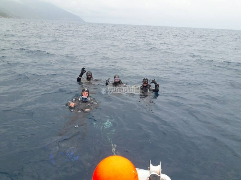 pronti all'immersione