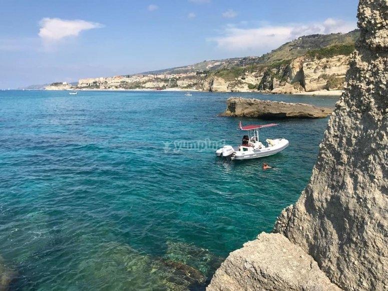 In mezzo al mare della Calabria
