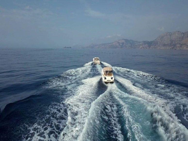 in the sea of the Amalfi coast