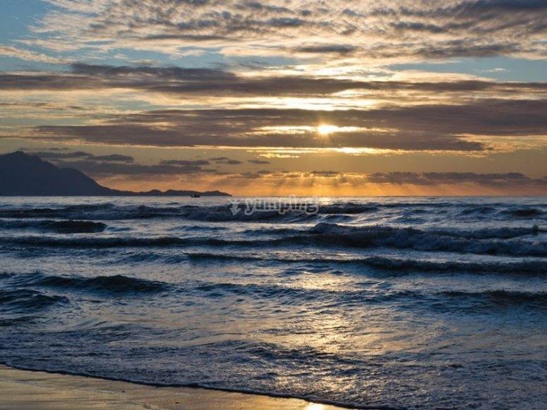 il tramonto della costa di amalfi