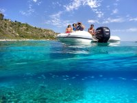 Capo Vaticano water taxi to Praia I Focu children