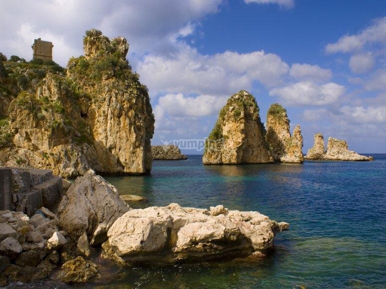the sea of Scopello