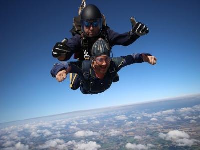 Lancio paracadute tandem foto/video Letojanni 1h