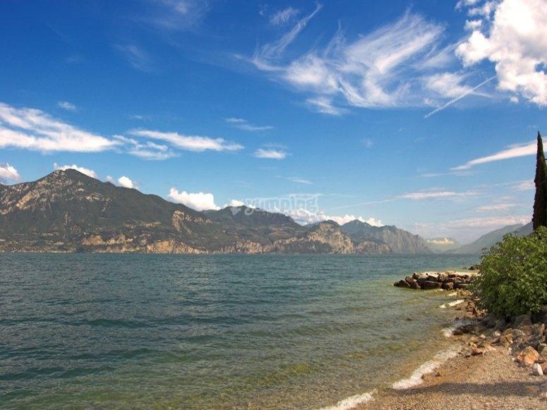 Le sponde del Lago di Gardo