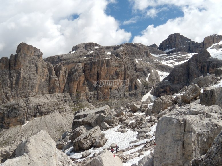 The rock landscapes of the Dolomites