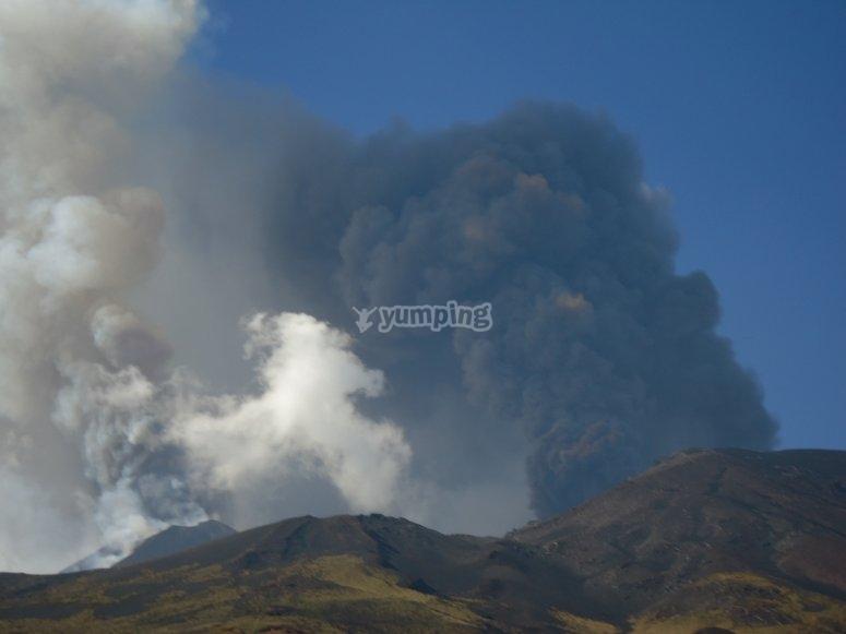 Smoke on Etna