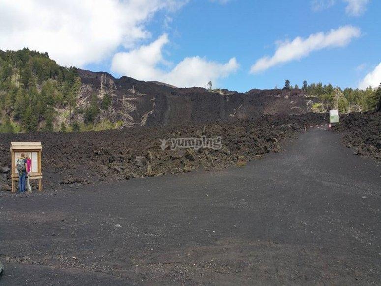 Panoramica del vulcano
