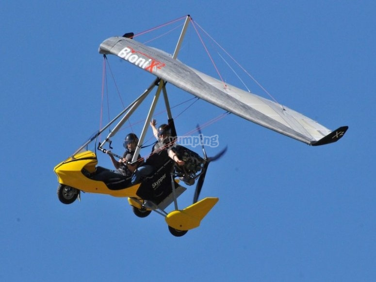 Our vehicle in flight
