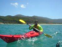 In canoe tra le meravigliose cost of Salento