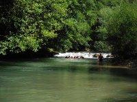 bagno dopo il rafting