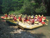 rafting adulti e bambini