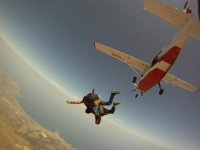 Tandem parachute launch in Sicily