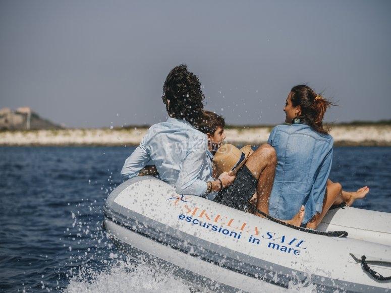 in escursione nella costa siciliana