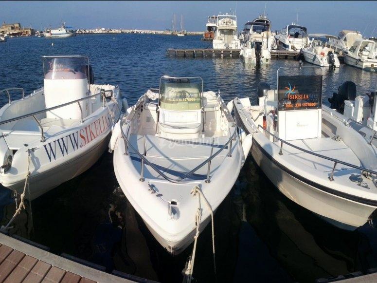 le nostre imbarcazioni per il noleggio