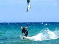 Kitesurfing with Woz