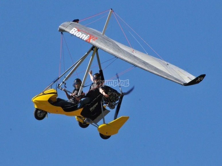 One of our hang gliders