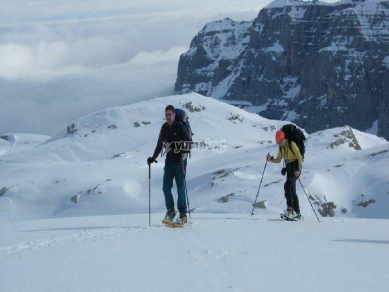 Trekking on the snow