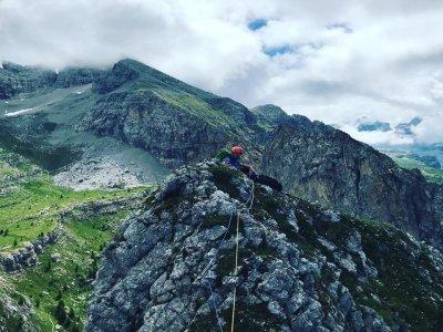 Via ferrata sulle Dolomiti di una giornata