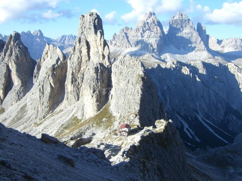 trekking on the dolomites
