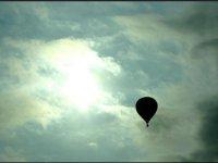 mongolfiera al tramonto