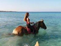 nel mare cristallino della Puglia
