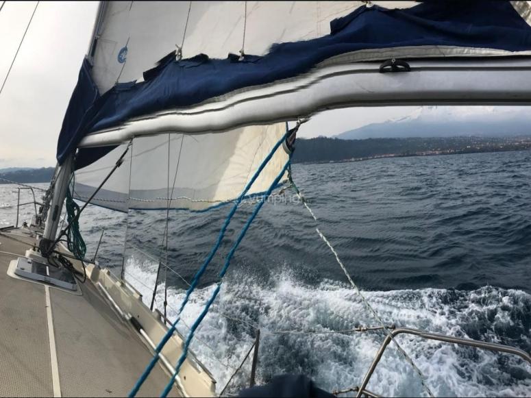 sailing at sea