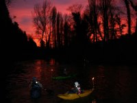 Tramonto in canoa