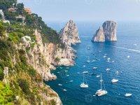 View of the Island of Capri.