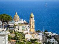 The city of Amalfi.