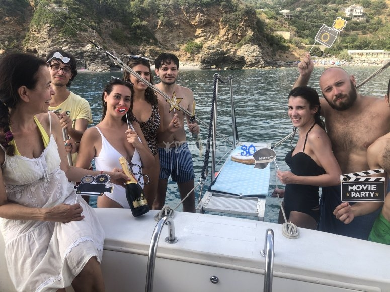 Birthday on a boat in company