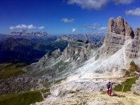 View of the Dolomites