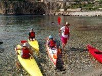 kayaking in sicily