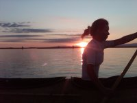Canoa tramonto