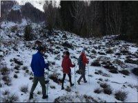 snow-covered etna trekking