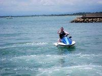 Moto d'acqua in mare