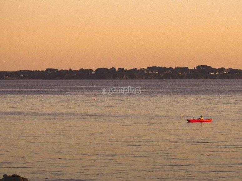 Canoa e panorama