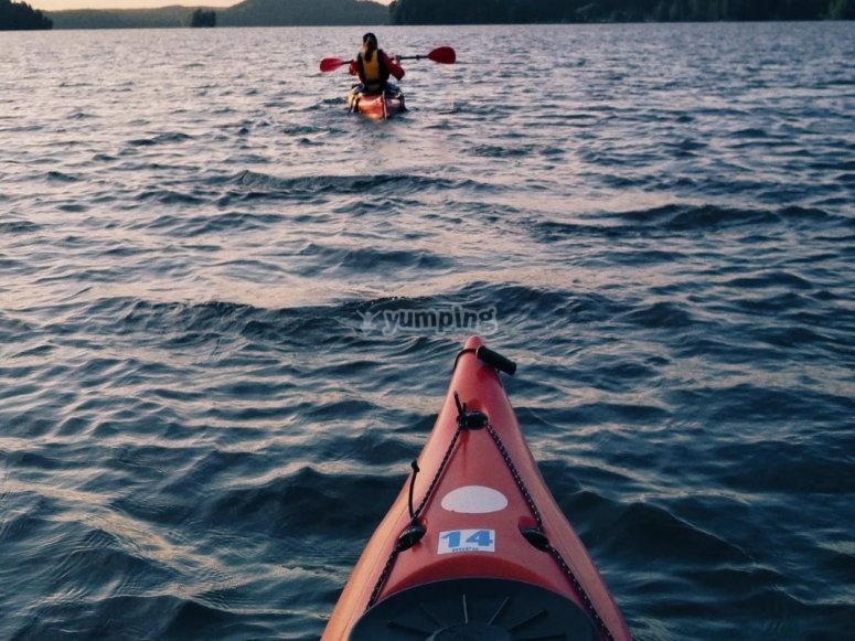 Canoe in fila