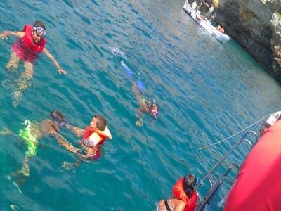 Tour in yacht a Marciano di Leuca 4ore per bambini
