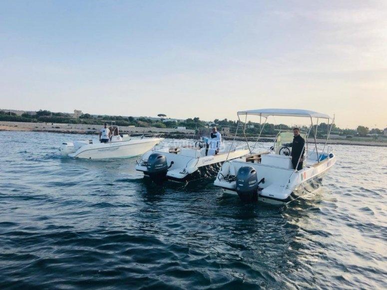 bateaux dans la mer