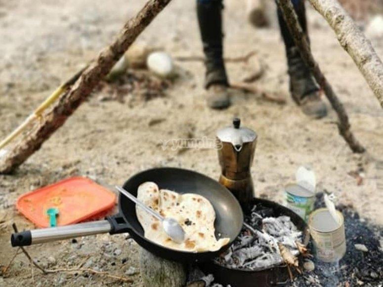 pranzo al fuoco