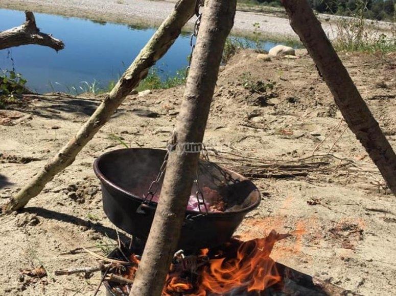 sosta pranzo al fuoco