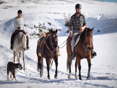 Trekking equestre a Vetan mezza giornata