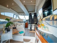 the interiors of one of our boats