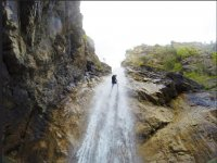 climb the waterfall